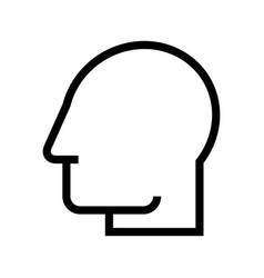 head silhouette profile icon avatar vector image