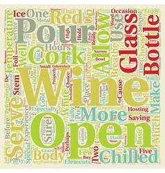 How to serve wine text background wordcloud vector