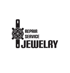 Image of logo jewelry service trendy vector
