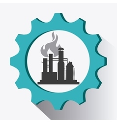 Industry design Plant icon Factory concept vector image
