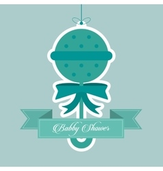 Maraca of baby shower card design vector image