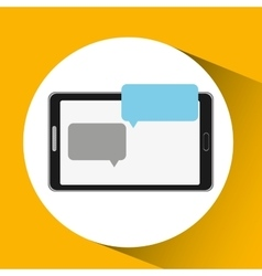 Mobile cellphone dialogue talk icon vector