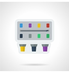 Paint box flat color icon vector