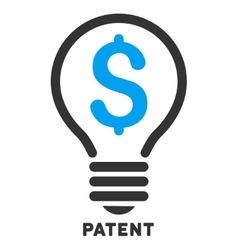 Patent icon with caption vector
