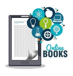 Read books online design vector