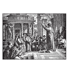 Saint paul preaching at athens - the areopagus vector