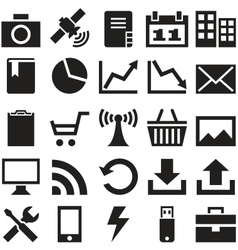 Set internet icons vector image vector image