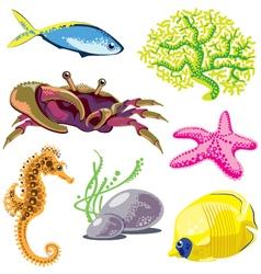 Set of Sea Animals vector image