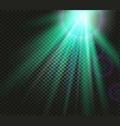 shining green color light effects glowing vector image vector image