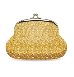 Shiny Gold Female Wallet Realistic vector image