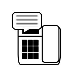 telephone communication talk message line vector image