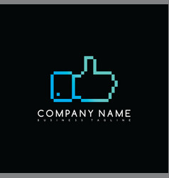 Thumb up brand company template logo logotype art vector