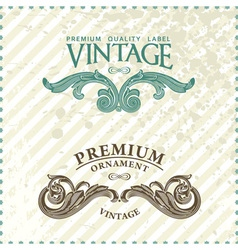 vintage styled premium vector image vector image
