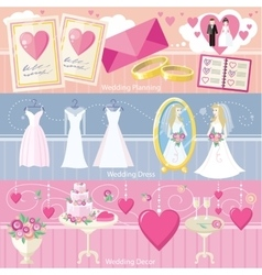 Wedding planning dress and decor concept vector