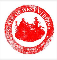 west virginia seal stamp vector image vector image