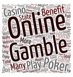 Why online poker is a lot of fun text background vector