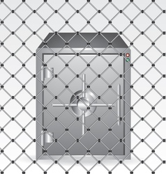 Wire and bank safe vector image