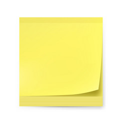 Yellow sticker on white background for creative vector