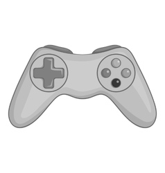 Game joystick icon black monochrome style vector