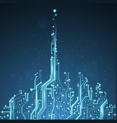 Technology image of dubai vector
