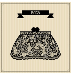 Bags vintage lace background floral ornament vector