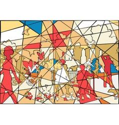 Park mosaic vector image