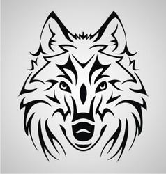 Wolf Head Tribal vector image