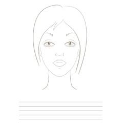 visage sketch vector image