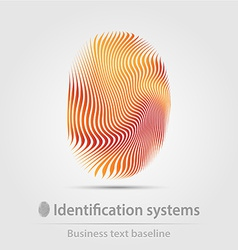 Identification systems business icon vector