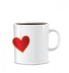 Love mug vector