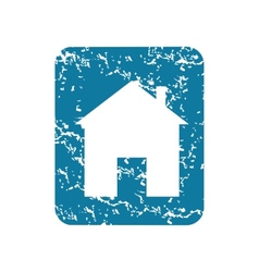 Grunge house sign icon vector