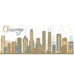 Abstract chicago skyline vector