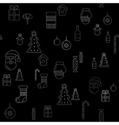 Christmas seamless background vector image
