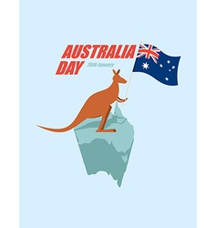 Day australia patriotic holiday state kangaroos vector