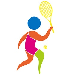 Tennis icon on white background vector