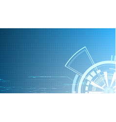 abstract light blue technology interface vector image