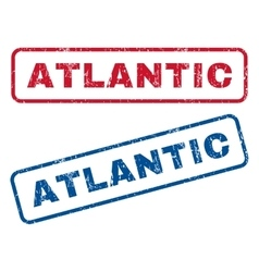 Atlantic rubber stamps vector