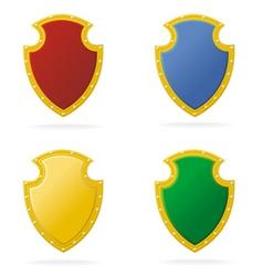award color shield vector image vector image