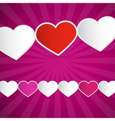 Background Made from Paper Hearts vector image vector image