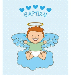 baptism angel design vector image