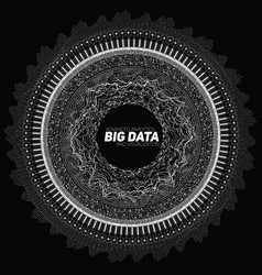 Big data circular grayscale vector