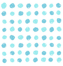blue paint dots background vector image vector image