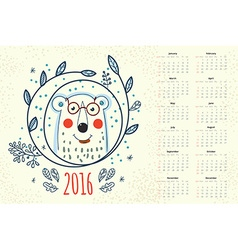 Calendar 12 months vector image vector image