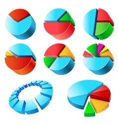 Charts set vector image vector image