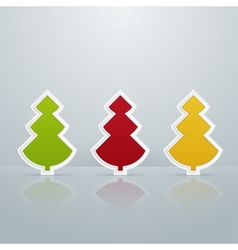 Colored Fir-Trees Object Set of Three vector image vector image