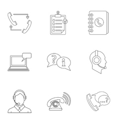 Consultation icons set outline style vector image vector image