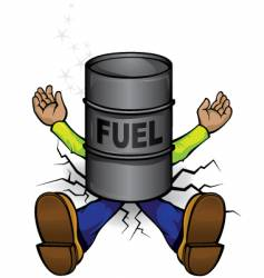 crushed by fuel prices vector image vector image