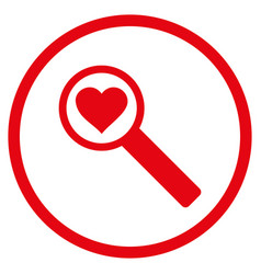 find love rounded icon vector image