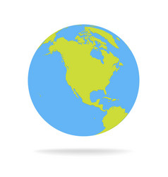 Green and blue cartoon world map globe royalty free vector gumiabroncs Image collections