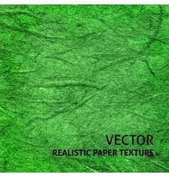 Green paper texture background vector image vector image